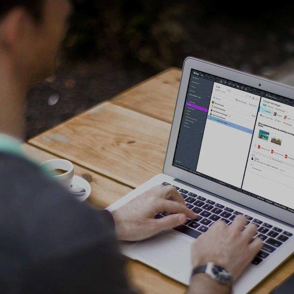 Идея, концепция, дизайн, мобильное приложение, смартфон, планшет, WRIKE - единое рабочее пространство, где команды совместно работают над общими задачами