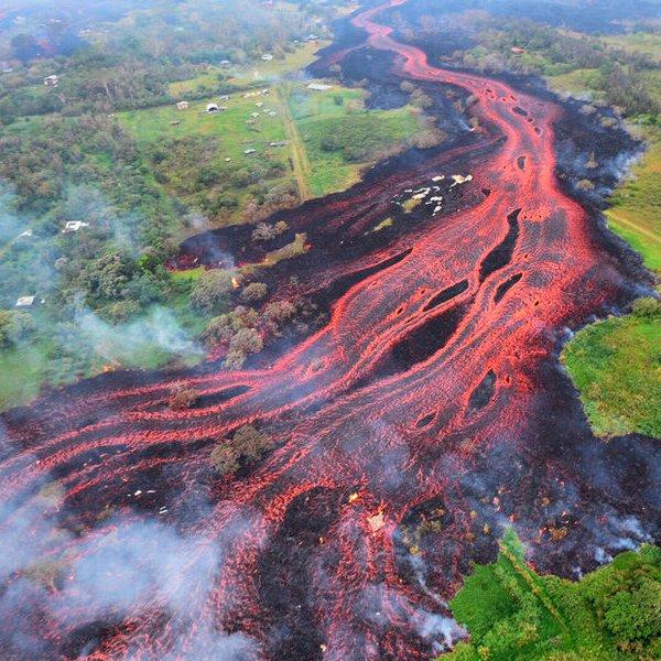 природа, океан, фото, Извержение вулкана Килауэа в фотографиях