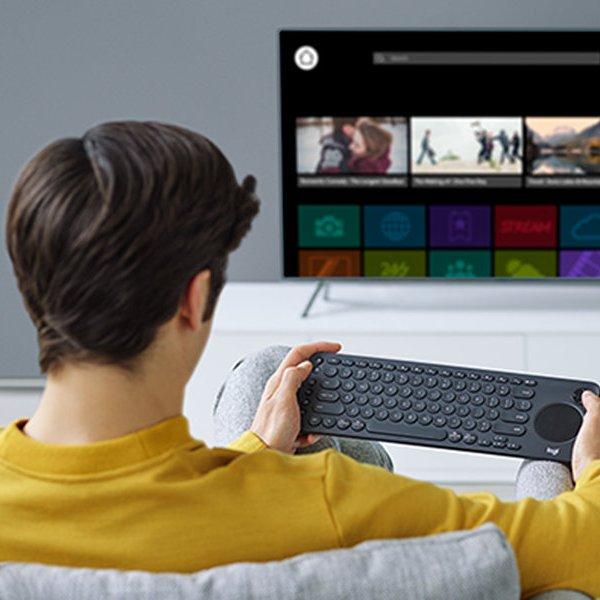 клавиатура, Новая медиа-клавиатура Logitech. Удобно для смарт-ТВ
